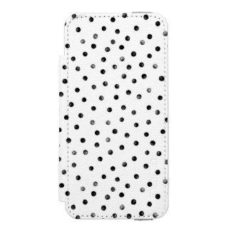 白黒紙吹雪の点 INCIPIO WATSON™ iPhone 5 財布 ケース