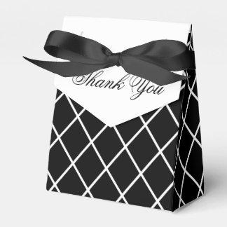 白黒結婚式の引き出物箱 フェイバーボックス