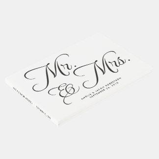 白黒結婚式の来客名簿、氏及び夫人 ゲストブック