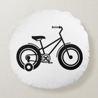 白黒自転車 ラウンドクッション