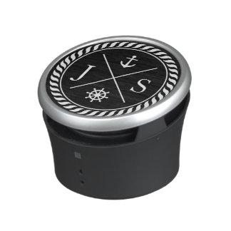 白黒航海のないかりのモノグラム ワイヤレス スピーカー