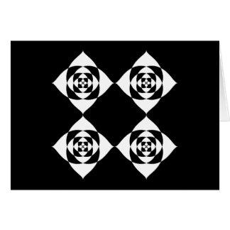 白黒花柄 カード