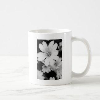 白黒花 コーヒーマグカップ