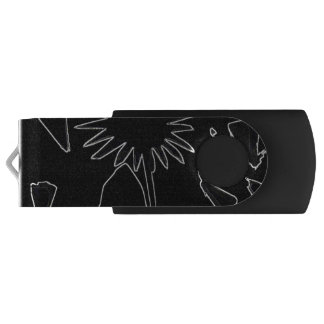 白黒花USBのフラッシュドライブ USBフラッシュドライブ
