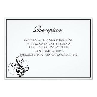 白黒華麗さの結婚披露宴カード カード