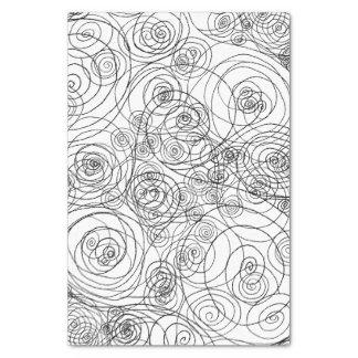 白黒落書きの芸術のティッシュペーパー 薄葉紙