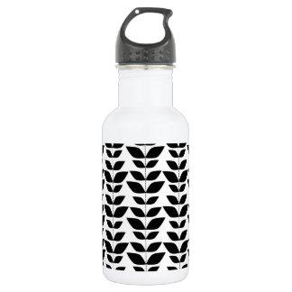 白黒葉、葉パターン ウォーターボトル