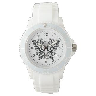 白黒蝶入れ墨 腕時計