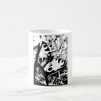 白黒蝶 コーヒーマグカップ