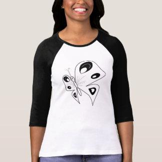 白黒蝶 Tシャツ
