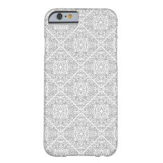白黒螺線形のダイヤモンドのデザイン- iの電話6 barely there iPhone 6 ケース