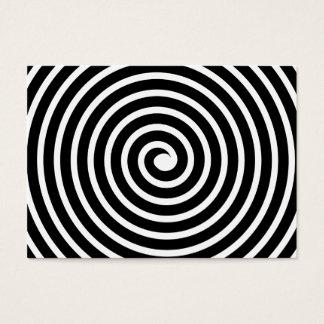 白黒螺線形のモチーフ- 名刺
