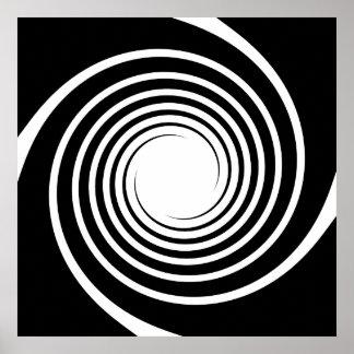 白黒螺線形の設計 ポスター