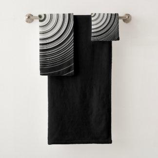 白黒螺線形 バスタオルセット