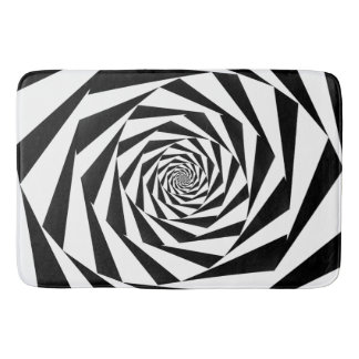 白黒螺線形 バスマット