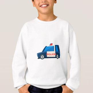 白黒警察はかわいい車アイコンをもてあそびます スウェットシャツ