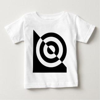 白黒赤ん坊の視覚刺激のティー ベビーTシャツ