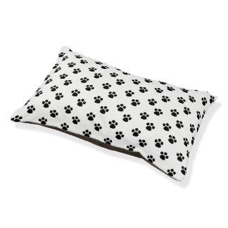 白黒足のプリントパターン犬のベッド スモールドッグベッド
