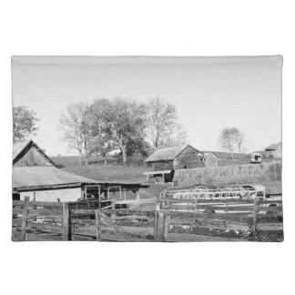 白黒農場 ランチョンマット