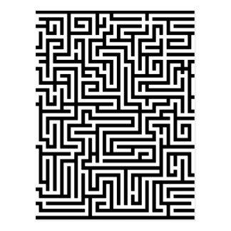白黒迷路の当惑 ポストカード
