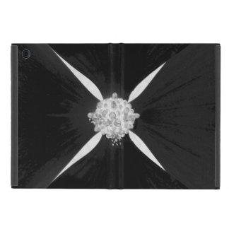 白黒逆にされたミズキの花 iPad MINI ケース