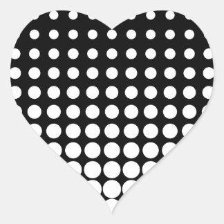 白黒進歩的な点 ハートシール
