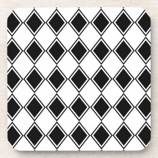 白黒道化師のダイヤモンドパターン コースター