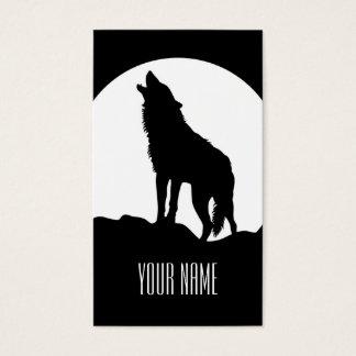 白黒遠ぼえのオオカミの名刺 名刺
