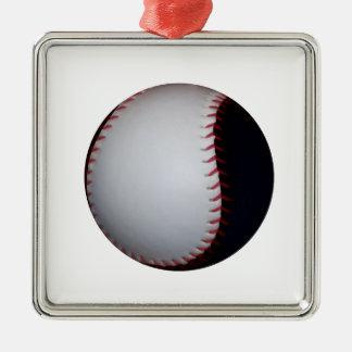 白黒野球/ソフトボール メタルオーナメント