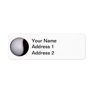 白黒野球/ソフトボール ラベル
