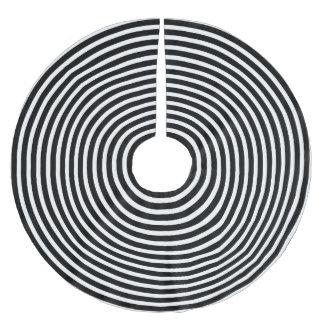 白黒錯覚の円 ブラッシュドポリエステルツリースカート