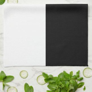 白黒長方形 キッチンタオル