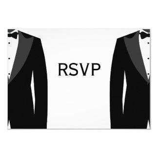 白黒陽気な結婚RSVPカード カード