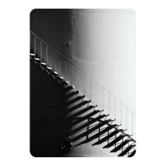 白黒階段効果のデザインのギフト カード