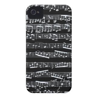白黒音楽ノート Case-Mate iPhone 4 ケース