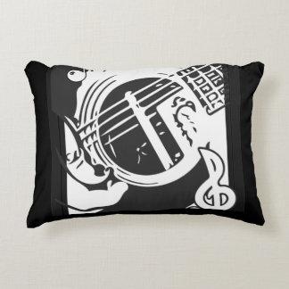 白黒音楽愛好者のギターの遊ぶこと アクセントクッション