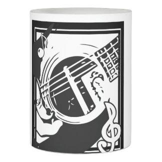 白黒音楽愛好者のギターの遊ぶこと LEDキャンドル