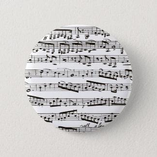 白黒音符 5.7CM 丸型バッジ