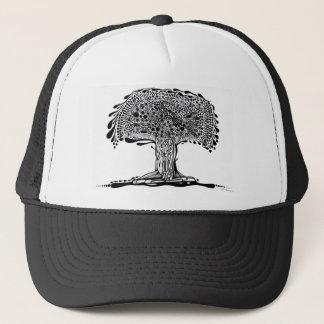白黒風変わりな木 キャップ