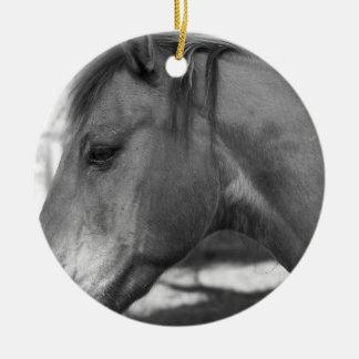 白黒馬のオーナメント セラミックオーナメント