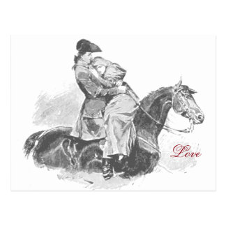 白黒馬の愛 ポストカード