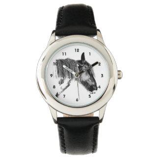 白黒馬 腕時計
