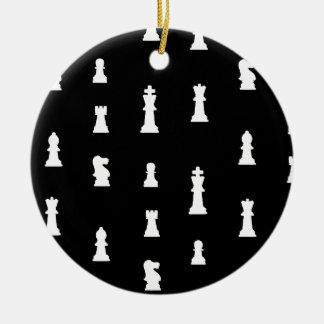 白黒駒パターン- セラミックオーナメント