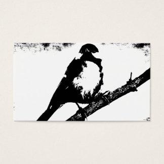白黒鳥のイメージ 名刺