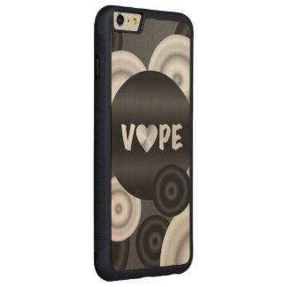 白黒3D Vape CarvedメープルiPhone 6 Plusバンパーケース
