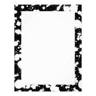 白黒(ばちゃばちゃ)跳ねるのペンキの芸術 レターヘッド