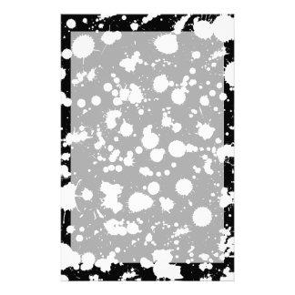 白黒(ばちゃばちゃ)跳ねるのペンキの芸術 便箋