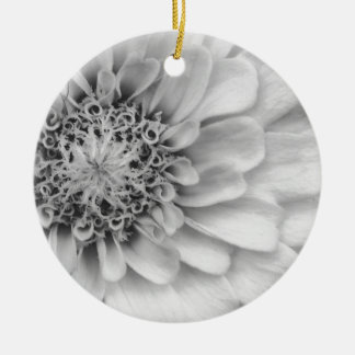 白黒《植物》百日草 セラミックオーナメント