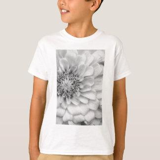 白黒《植物》百日草 Tシャツ