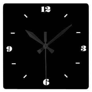 白黒>粋なWallclocks スクエア壁時計